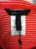 New BCBG Max Azria Women's Low Back Tank Top Red White Striped Sz M $58 WHY1L977