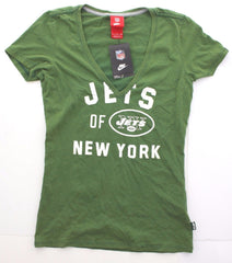 Nike NFL NY Jets Women's Washed Out Look Organic Cotton V-Neck 538580 Sz S-XL