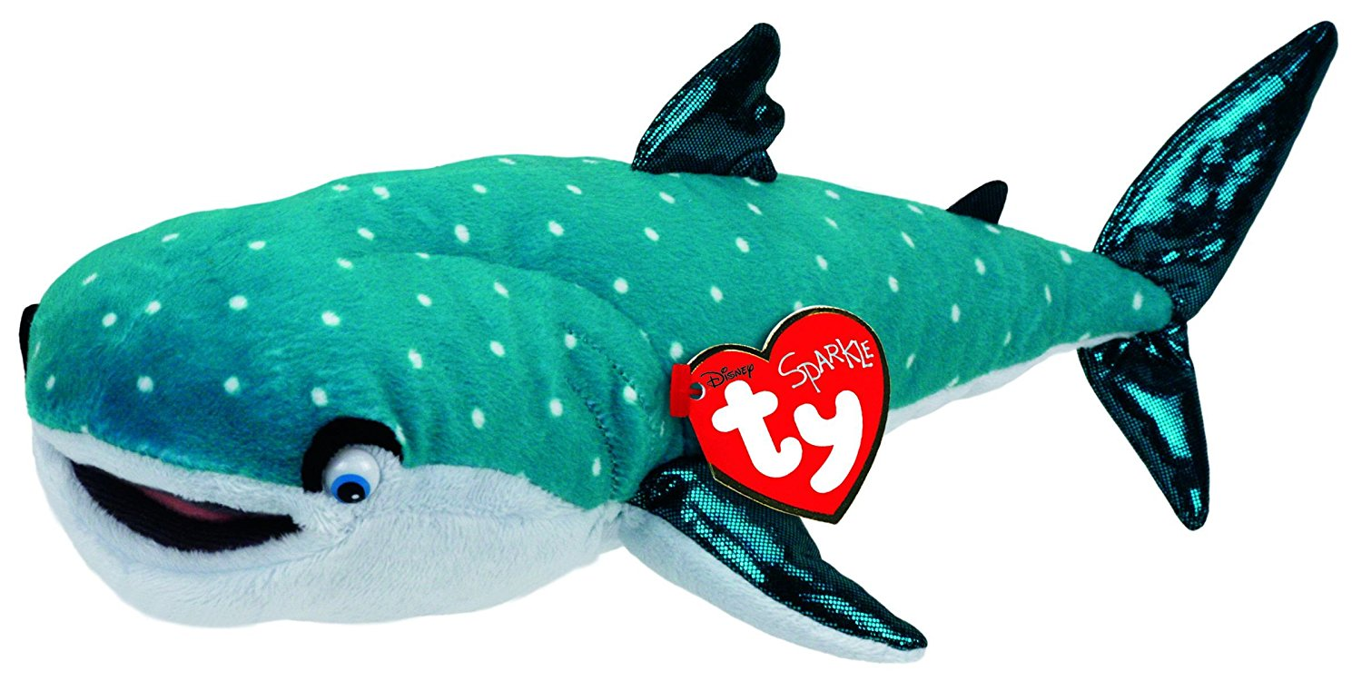 "Ty Beanie Babies ""Destiny"" from Disney Finding Dory Plush Shark"