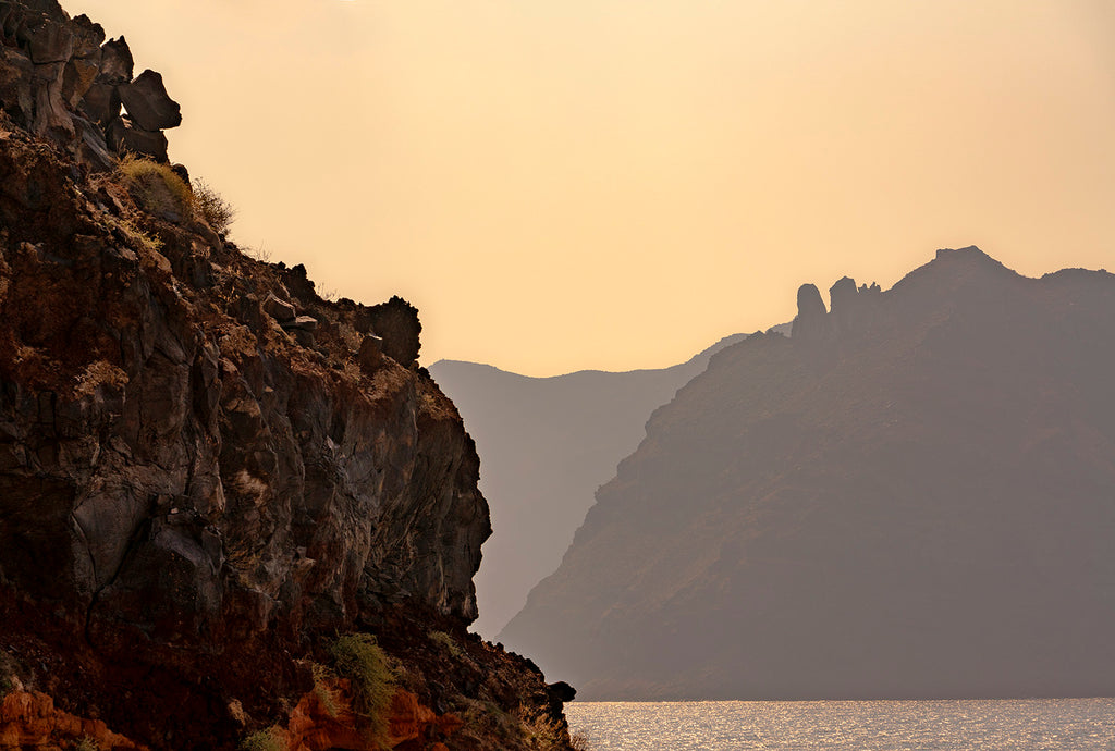 Cliffs at Amoudi Bay Santorini
