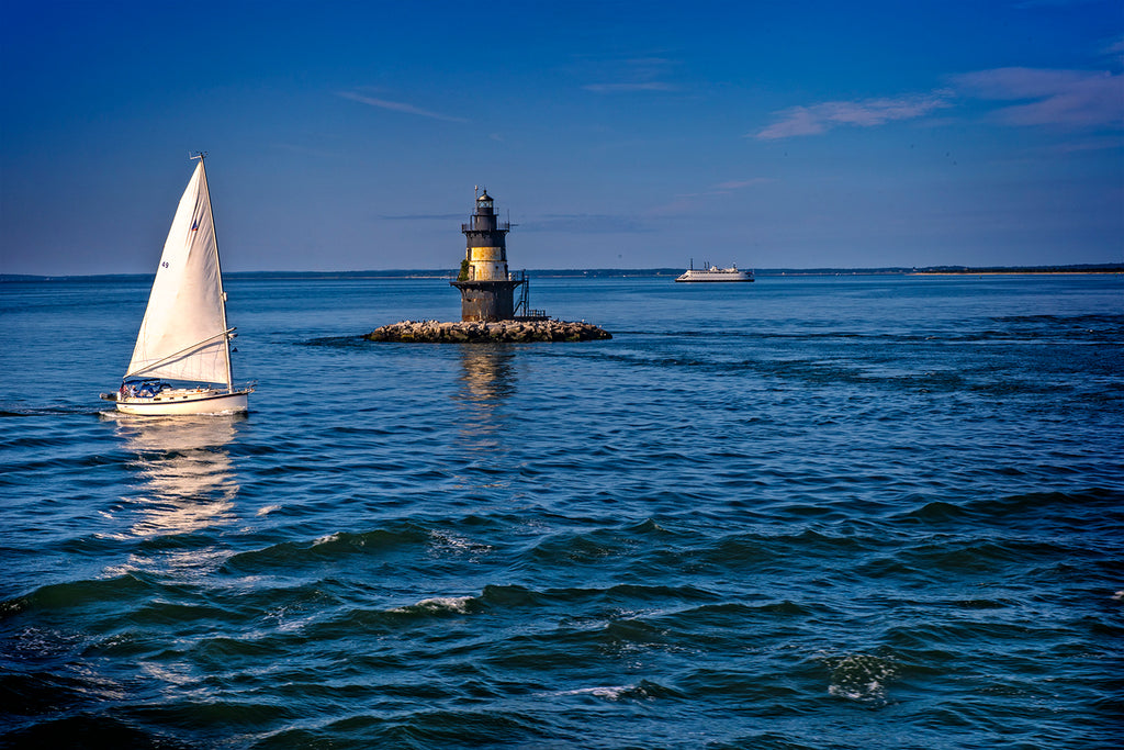 Sailboat and Lighthouse