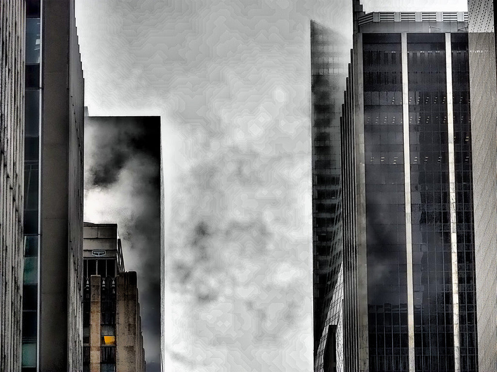 Buildings In Fog