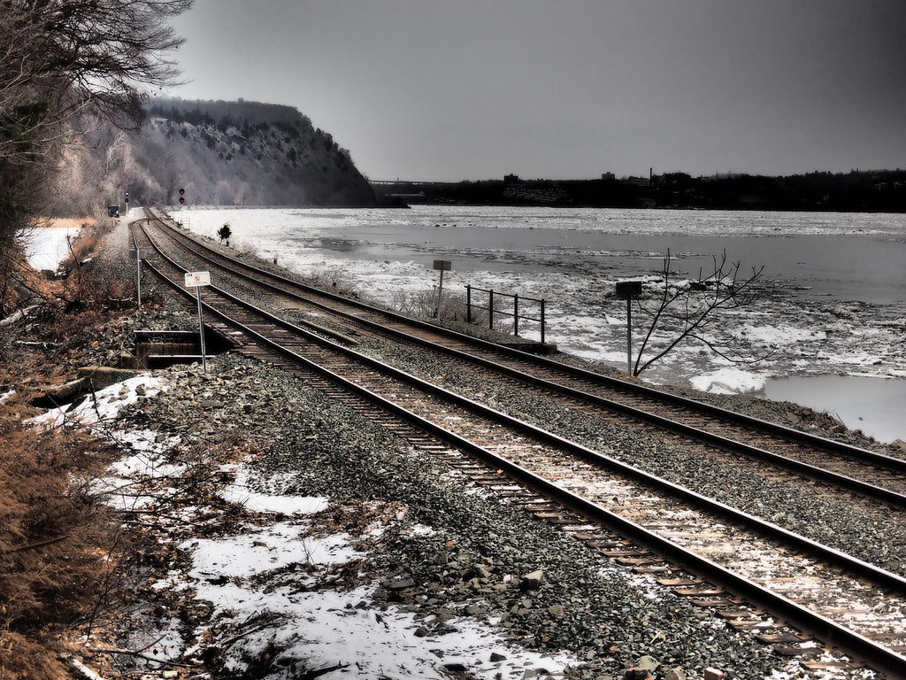 Tracks along the Hudson