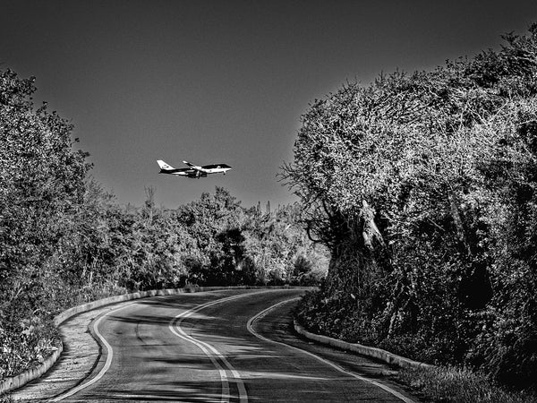 Airplane Over Road