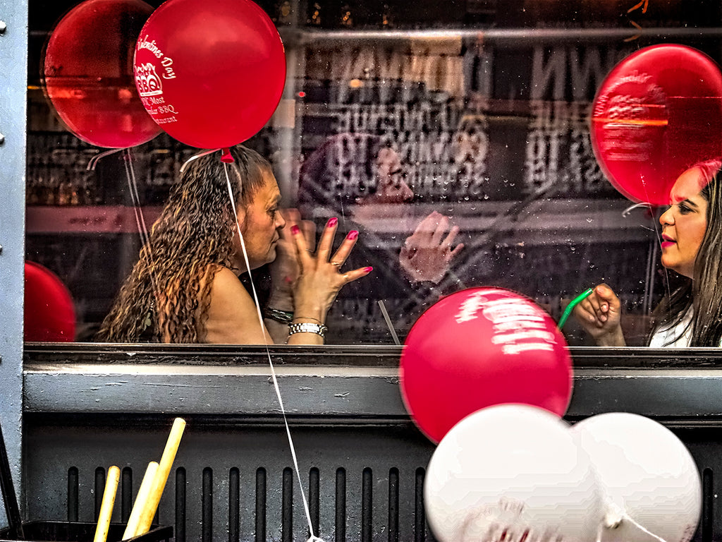 Red Nails Lips And Balloons