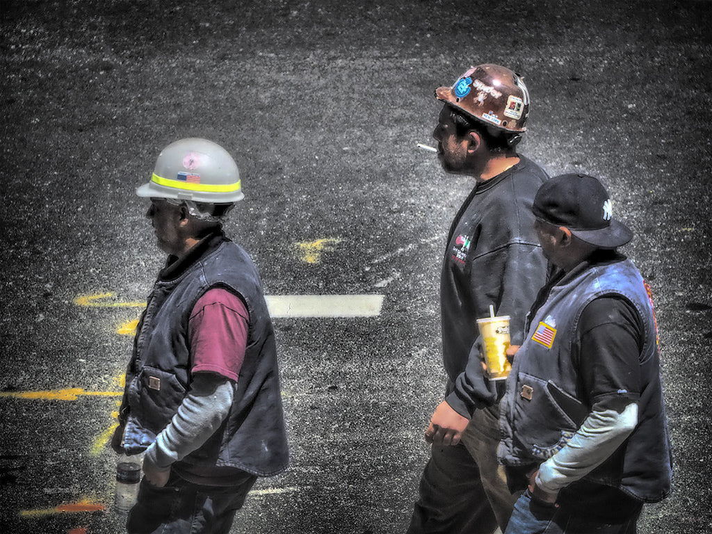 Construction Workers On Lunch