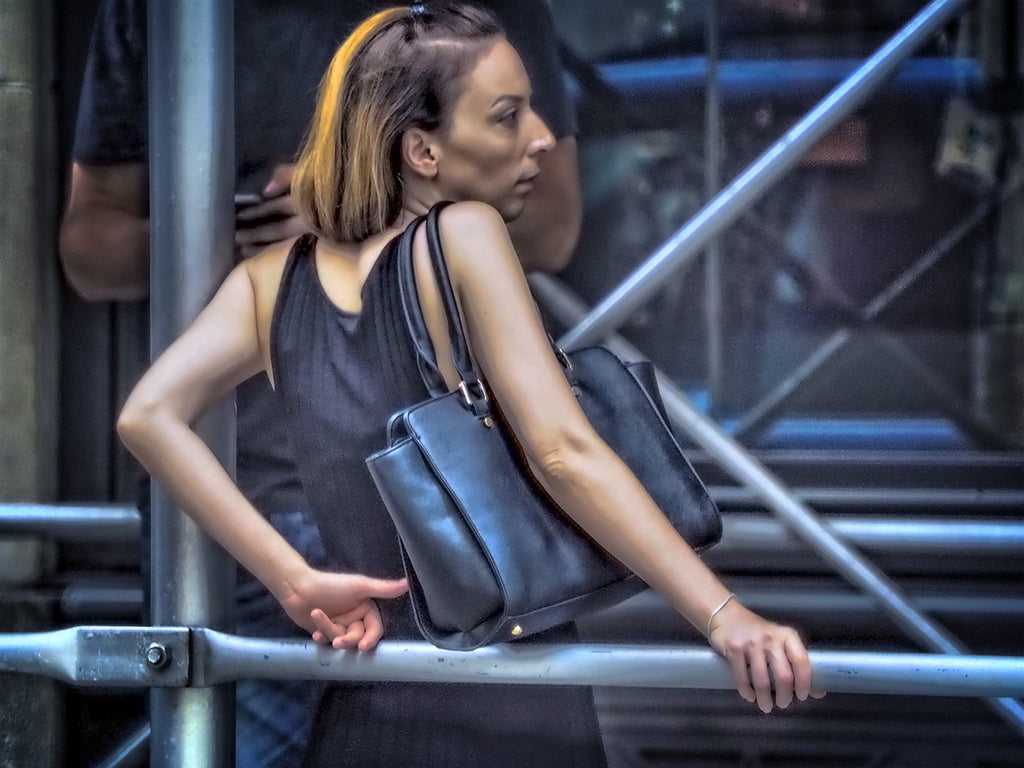 Woman With Shoulder Bag