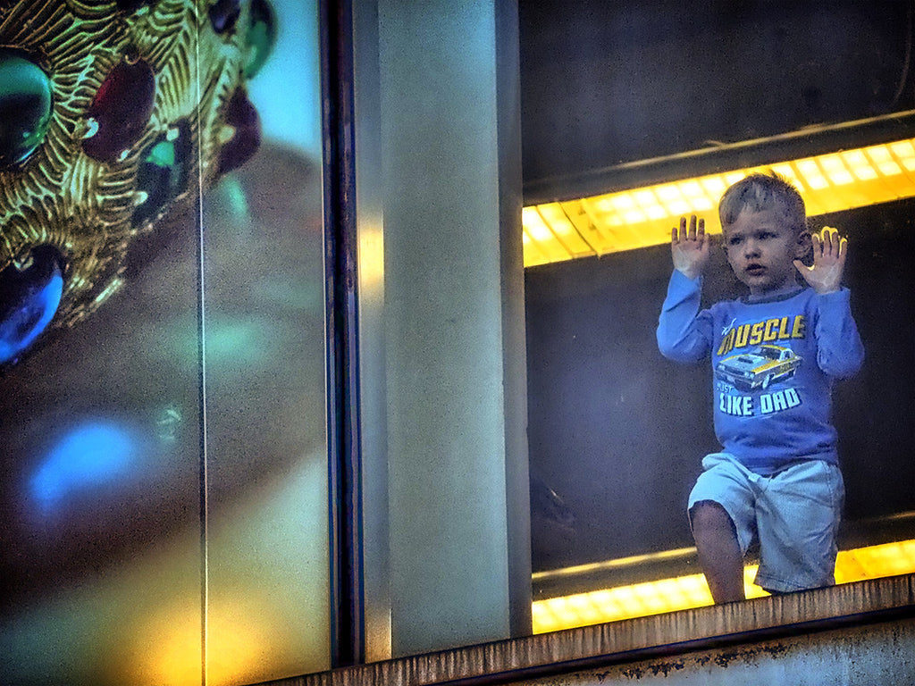 Blue Boy At Window