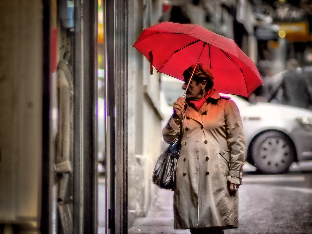 With The Red Umbrella