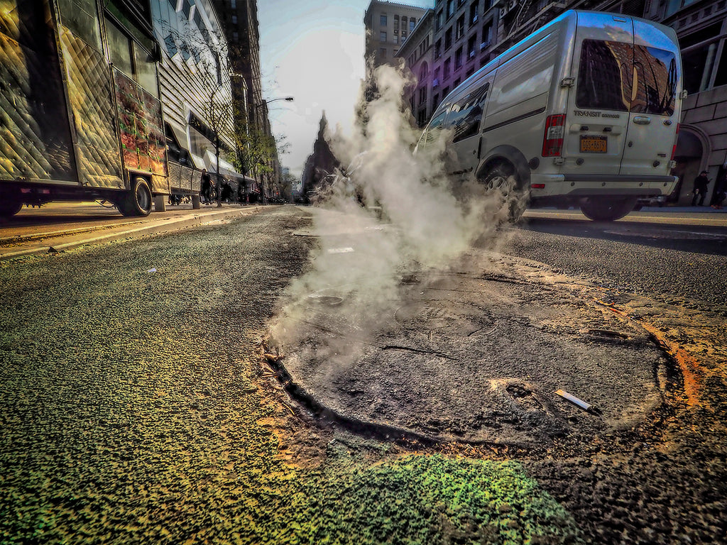 Steaming Manhole