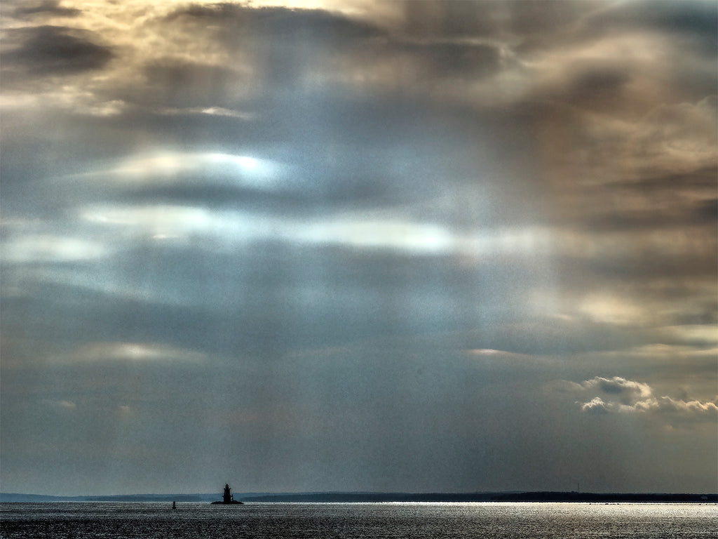 Sun Beams And Lighthouse