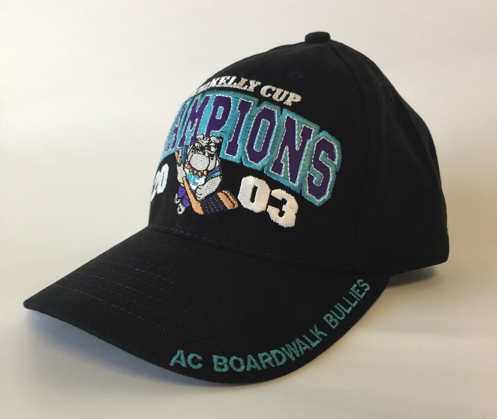 2003 - Kelly Cup Champions Hat - Atlantic City Boardwalk Bullies - One Size Fits All