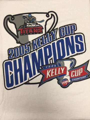 2005 Kelly Cup Champions T-Shirt - Trenton Titans - Size XL