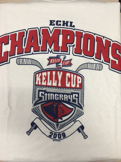 2009 Kelly Cup Champions T-Shirt - South Carolina Stingrays - Size Large
