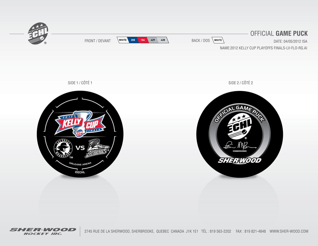 2012 ECHL Kelly Cup Final Pucks - Set of 2