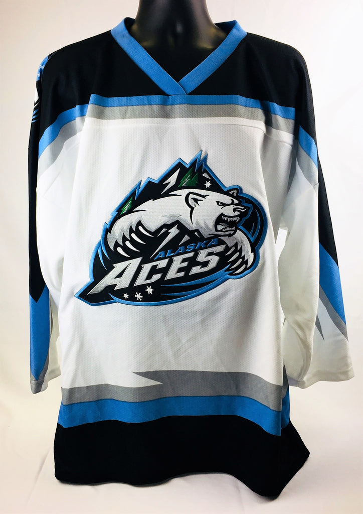 Alaska Replica Hockey Jersey - White - L