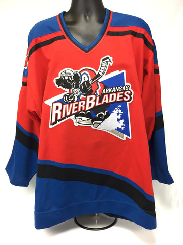Arkansas Riverblades Authentic Jersey - Red - Size 52