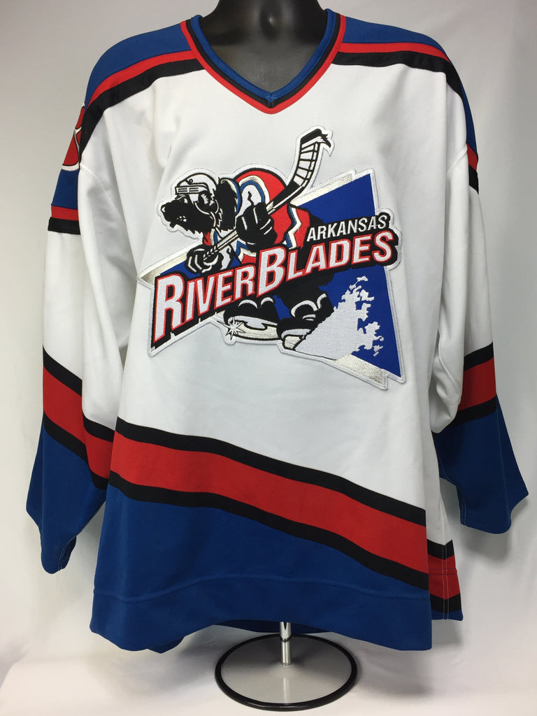 Arkansas Riverblades Authentic Jersey - White - Size 52