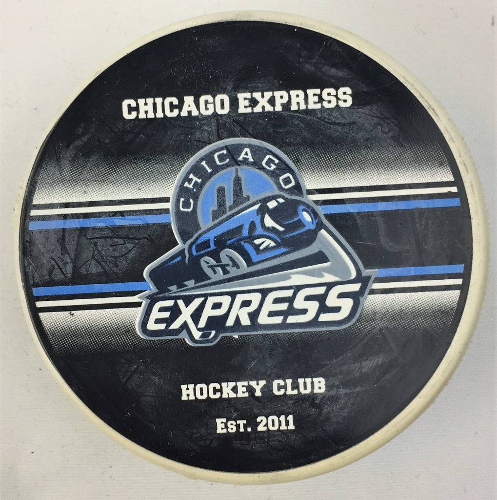 Chicago Express Hockey Puck - White