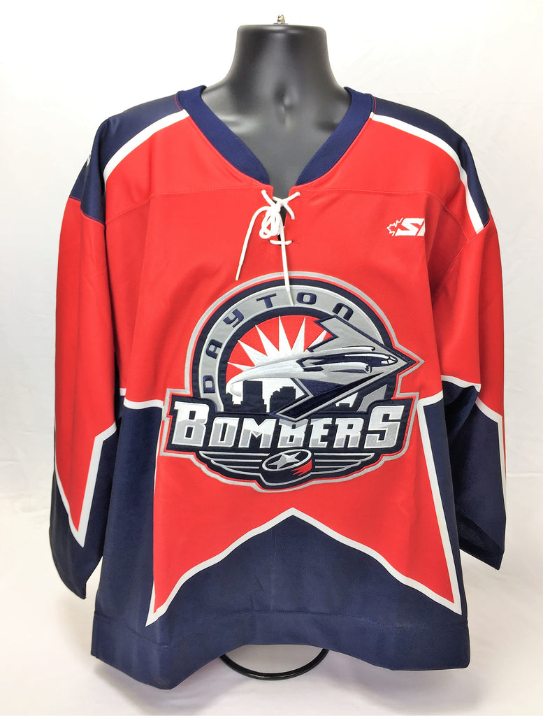 Dayton Bombers Authentic Jersey Size 54 - Red