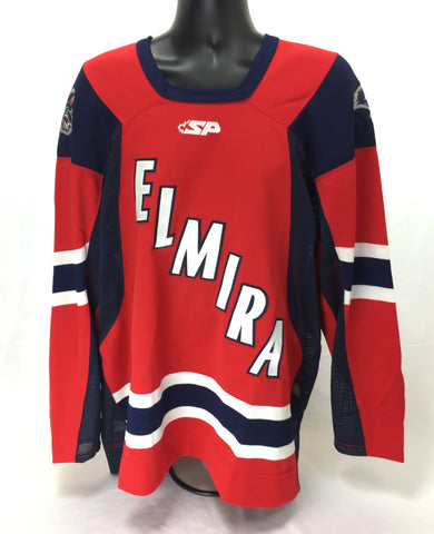 Elmira Jackals Authentic Jersey Size 54 - Red