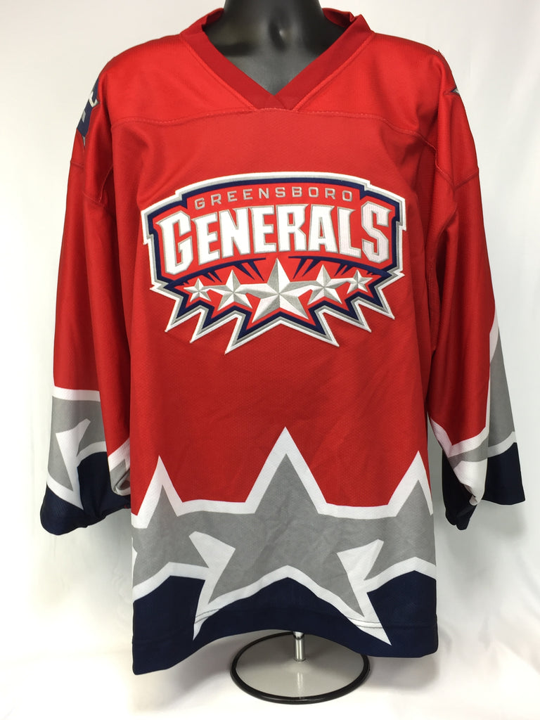 Greensboro Generals Hockey Jersey - Red - Size 58
