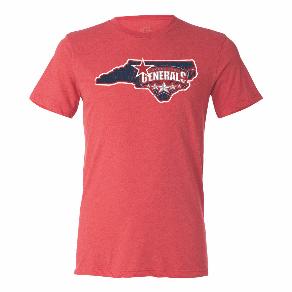 Greensboro Generals Men's State Tee