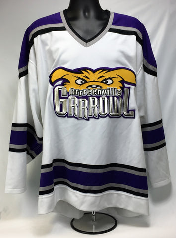 Greenville Replica Hockey Jersey - White - 52