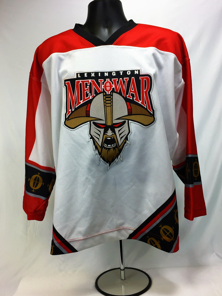 Lexington Men O' War Hockey Jersey - White - 52