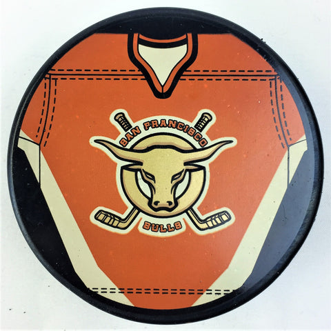 San Francisco Bulls Hockey Puck