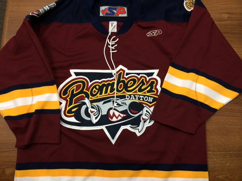 Dayton Bombers Authentic Jersey Size 52 - Maroon