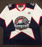 Dayton Bombers Authentic Jersey - White - Size 54
