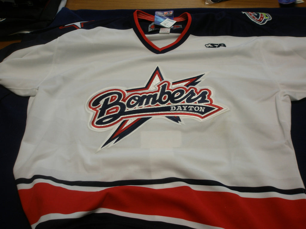 Dayton Bombers Authentic Jersey - White - 52