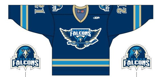 Fresno Falcons Replica Jersey - Dark - Youth