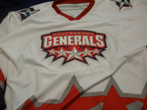 Greensboro Replica Hockey Jersey - White - XXL