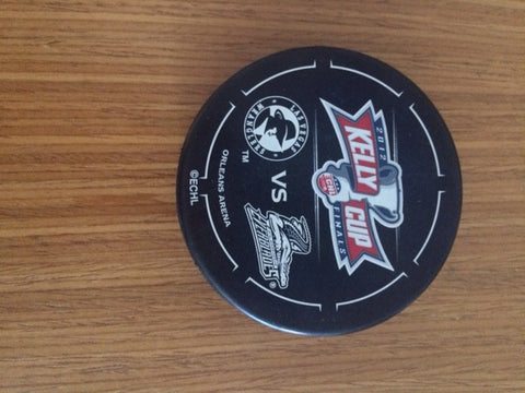 2012 Kelly Cup Finals Puck - LV Wranglers vs FL Everblades