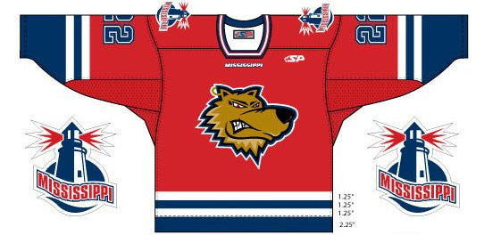 Mississippi Sea Wolves Replica Jersey - Dark