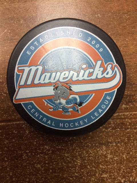 Missouri Mavericks Central Hockey League Puck