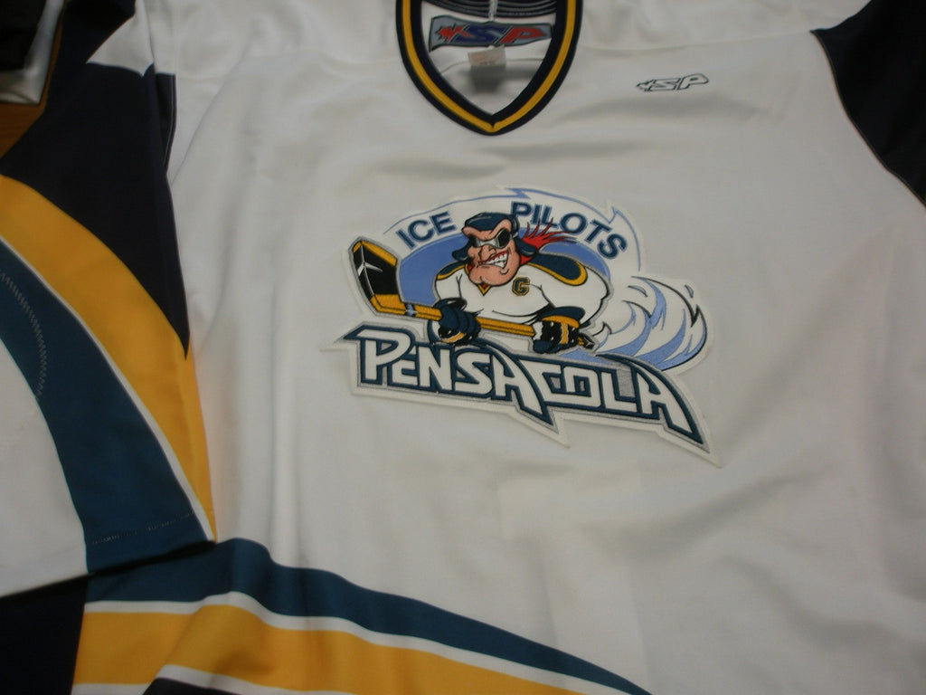 Pensacola Ice Pilots Authentic Jersey - White - 54 - Pilot Logo
