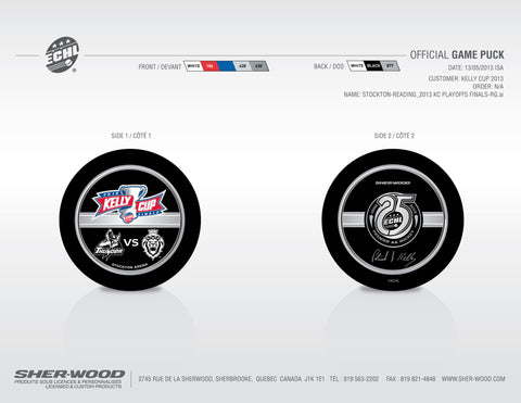 2013 ECHL Kelly Cup Final Pucks - Set of 2
