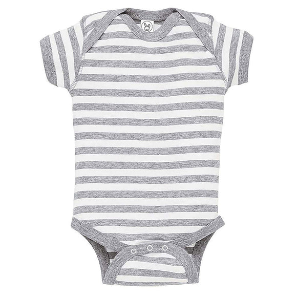 Heather/White Stripe Onesie-Country Gone Crazy-Country Gone Crazy