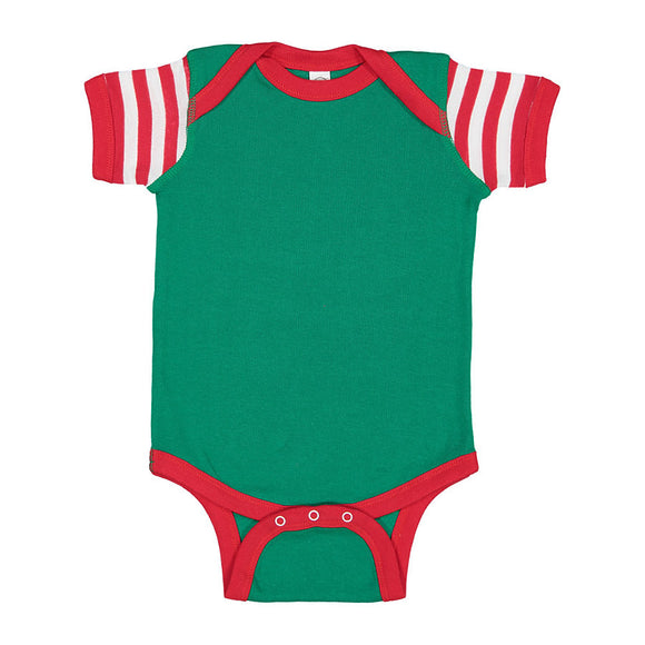 Red/White/Green Stripe Onesie-Country Gone Crazy-Country Gone Crazy