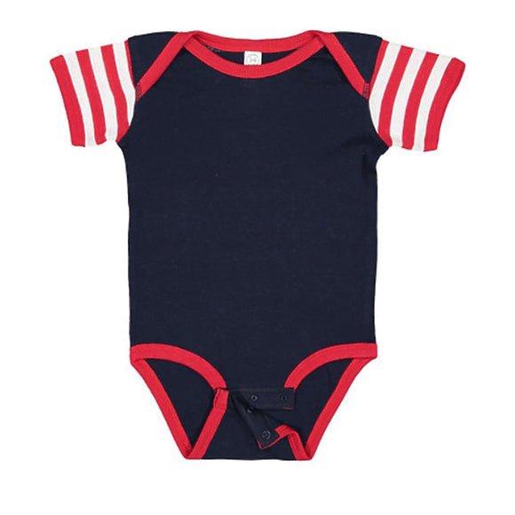 Navy/Red/White Stripe Onesie-Country Gone Crazy-Country Gone Crazy