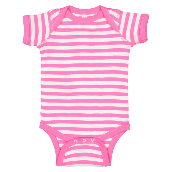 Pink/White Stripe Onesie-Country Gone Crazy-Country Gone Crazy