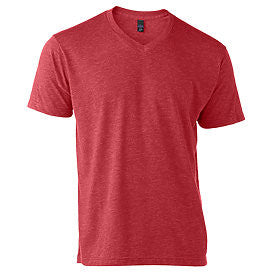 Heather Red Tultex V-Neck Tee-Country Gone Crazy-Country Gone Crazy