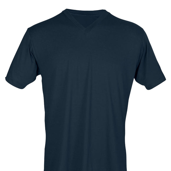 Navy Tultex V-Neck Tee-Country Gone Crazy-Country Gone Crazy