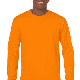 Safety Orange - Adult Long Sleeve Shirt-Country Gone Crazy-Country Gone Crazy