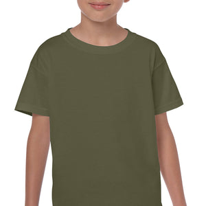 Military Green - Heavy Cotton Youth T-Shirt-Country Gone Crazy-Country Gone Crazy