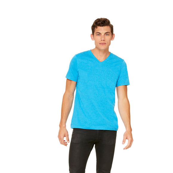 Bella Canvas - Neon Blue - Unisex V-Neck-Country Gone Crazy-Country Gone Crazy