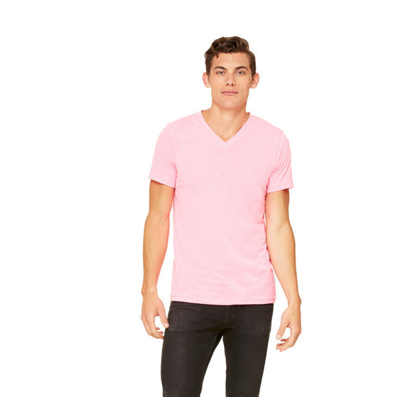 Bella Canvas - Neon Pink - Unisex V-Neck-Country Gone Crazy-Country Gone Crazy